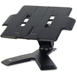 Digital projector riser helps get the projector where you need it for perfect presentations. Height easily adjusts up and down through 4 inch range. Projector riser swivels 360 degrees and tilts forward and back 40 degrees. Riser doubles as a notebook ris