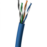 1000 ft Cat5e Shielded Network Cable - Blue - Bare Wire - Bare Wire - 1000ft - Blue