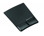 Mouse Pad / Wrist Support with Microban Protection - 9.9 inch x 8.3 inch x 0.9 inch Dimension - Black - Gel Polyurethane