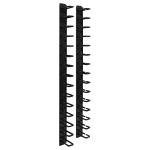 Rack Enclosure Cabinet 6ft Horizontal Cable Ring Flexible 6 feet - Rack cable management kit (vertical) - black - 6 ft