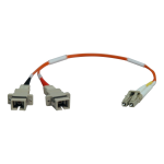 0.3M DUPLEX MULTIMODE FIBER OPTIC 50/125 ADAPTER LC/SC M/F 1FT 0.3 METER