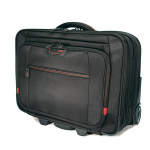 Professional Overnight Rolling 13 inch to 17.3 inch Laptop Case - Notebook carrying case - 13.3 inch - 17.3 inch - black with red trim