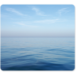 Recycled Mouse Pad - Blue Ocean - 0.1 inch x 9 inch x 8 inch Dimension - Multicolor - Rubber - Scratch Resistant