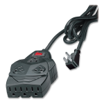 8-outlet surge protection. With 6 feet cord space for up to 5 AC adapters. - 8 x NEMA 5-15R - 1460 J - 110 V AC Input - 110 V AC Output
