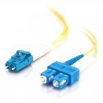 1m LC-SC 9/125 Duplex Single Mode OS2 Fiber Cable - Yellow - 3ft - Patch cable - LC single-mode (M) to SC single-mode (M) - 1 m - fiber optic - 9 / 125 micron - OS1 - yellow